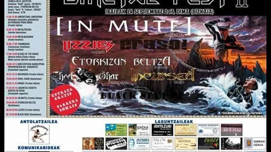 Dimetalfest en Dima el sábado 24 de septiembre