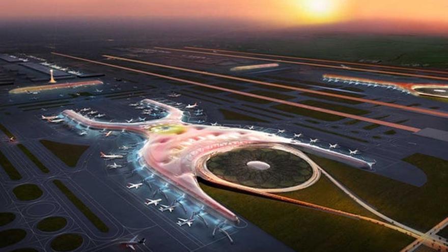 Proyecto del nuevo aeropuerto // Foster + Partners