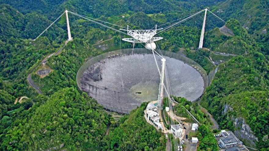 Radiotelescopio de Arecibo, el segundo más grande del mundo | Foto: Wikimedia Commons