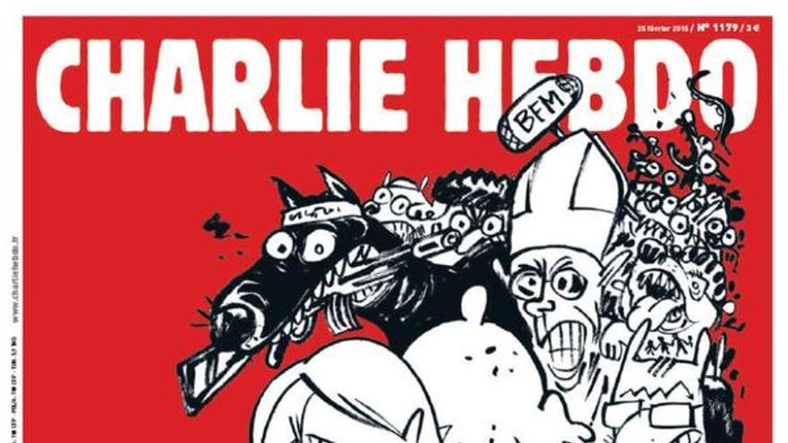 El número de Charlie Hebdo que sale en febrero.