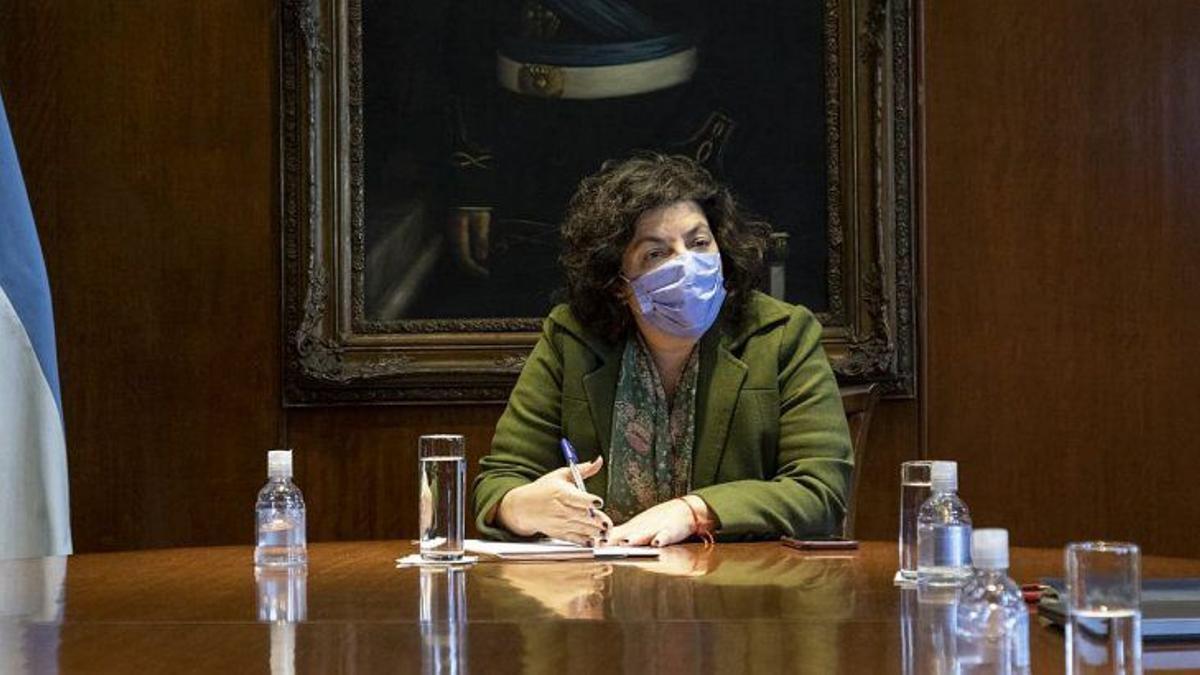 La ministra de Salud, Carla vizzotti.