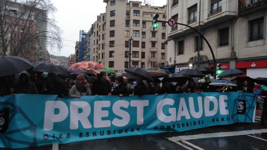 Comienza en Bilbao la manifestación para reclamar el fin de la dispersión de los presos de ETA