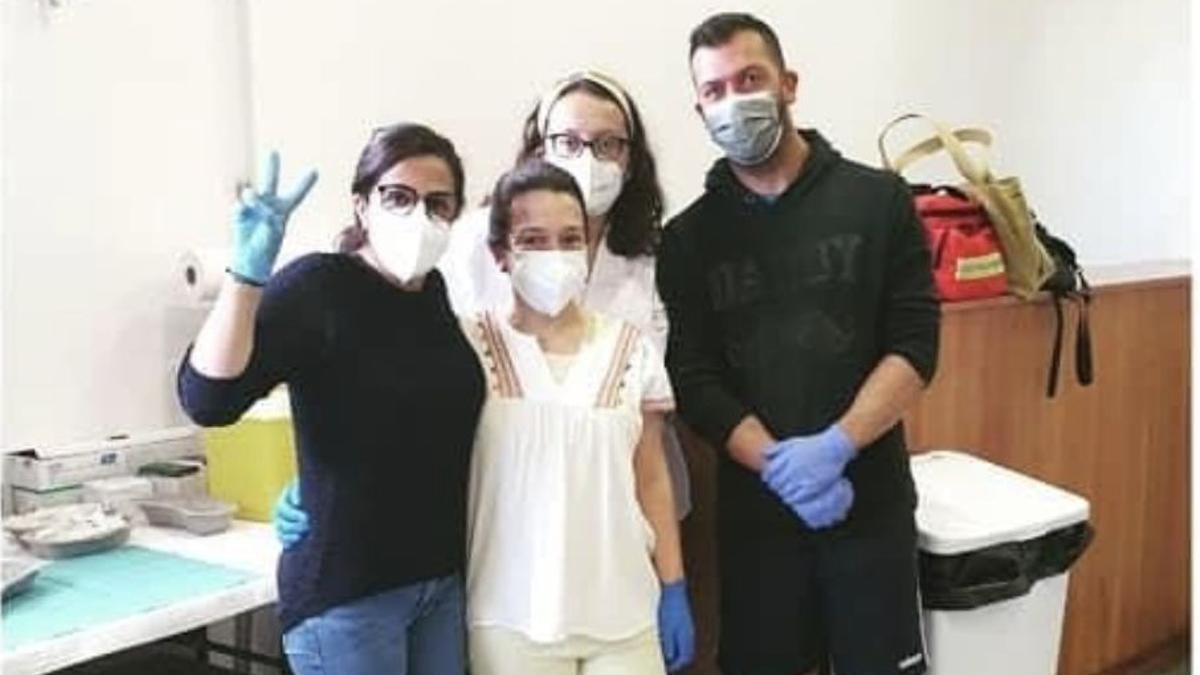 Equipo de vacunación del Centro Salud de Los Llanos de Aridane.