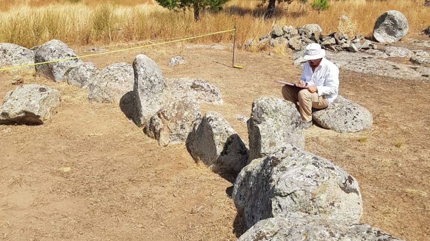 Imagen del que podría ser un crómlech en Totanés (Toledo)