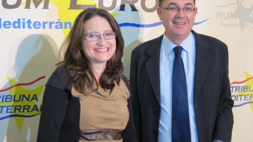 Mònica Oltra y Enric Morera.