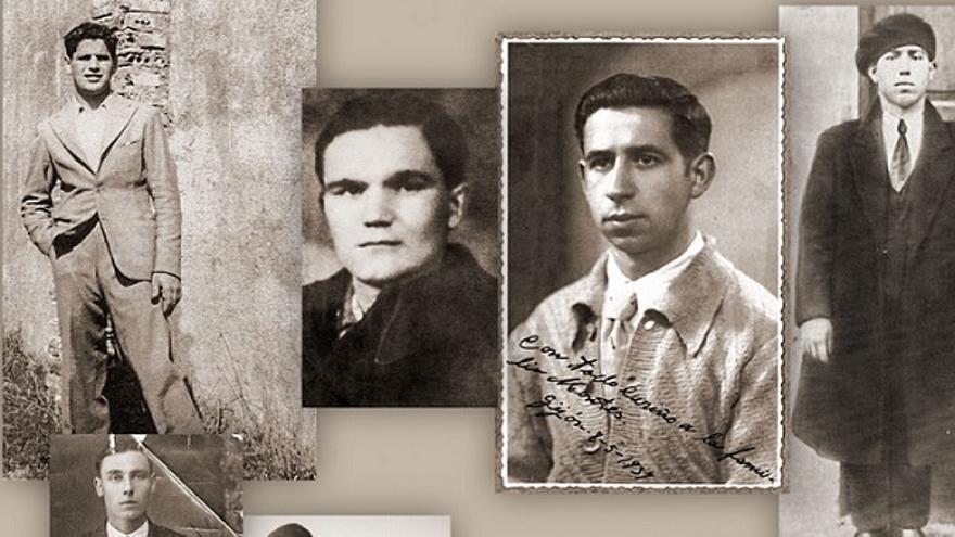Seis de los catorce militares republicanos asesinados por falangistas en O Acevo en octubre de 1937