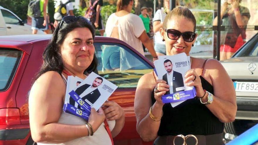 Imagen de un acto de campaña electoral de Juntos por Canarias