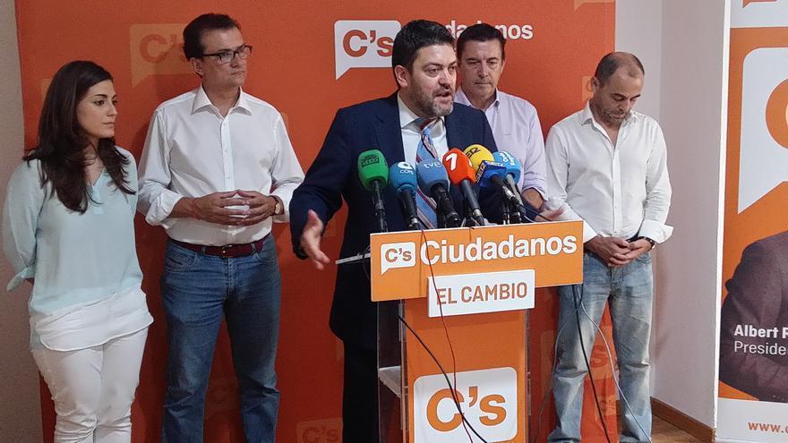 Miguel Sánchez ha hecho balance en la sede de su partido en Murcia