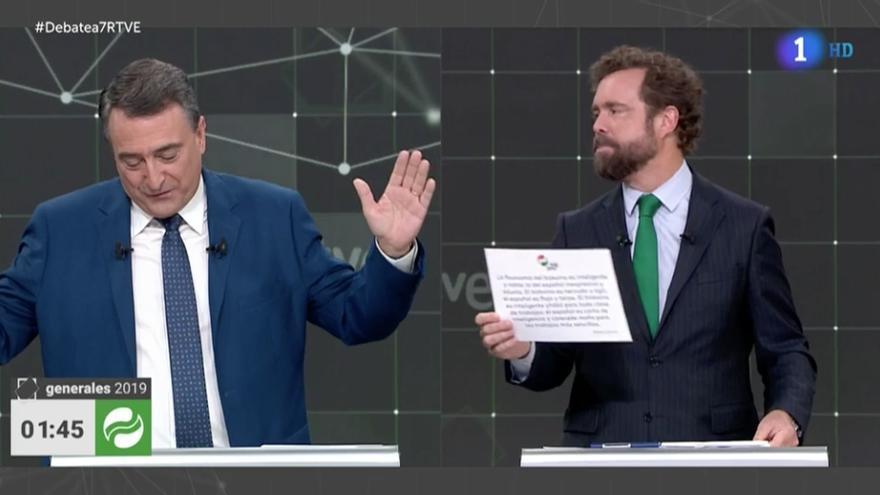 Aitor Esteban e Iván Espinosa de los Monteros, durante el debate.