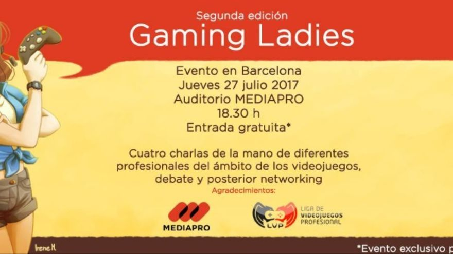 Cartel del Gaming Ladies Barcelona