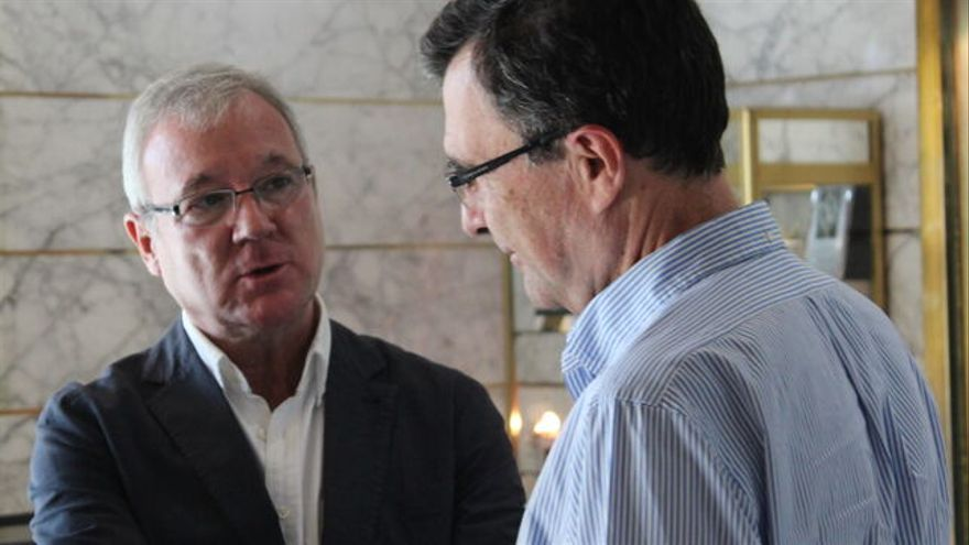 El expresidente de la Región de Murcia, Ramón Luis Valcárcel, junto al alcalde del municipio de Murcia, José Ballesta