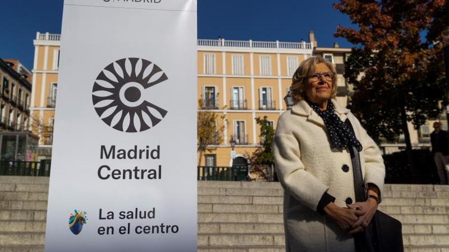 Manifestación para reivindicar el mantenimiento de Madrid Central