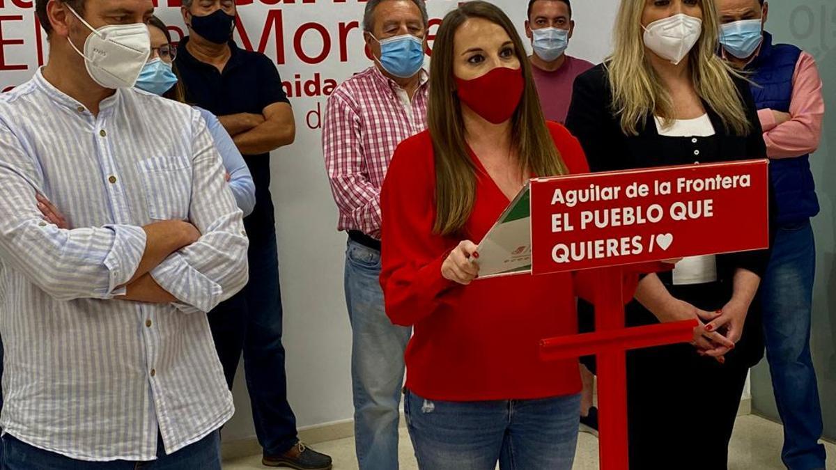 Esther Ruiz, durante su comparecencia