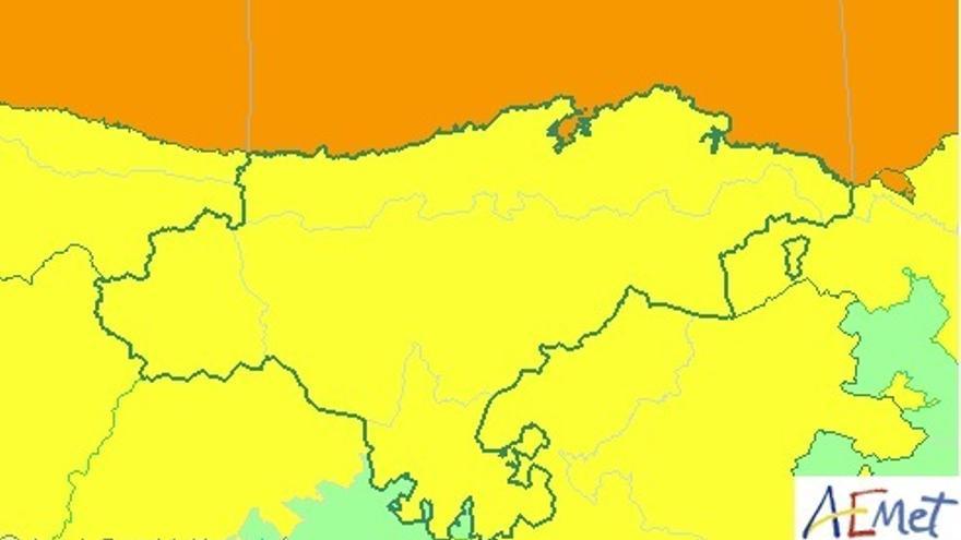 Cantabria estará este jueves en aviso naranja por costeros y en amarillo por viento y lluvia
