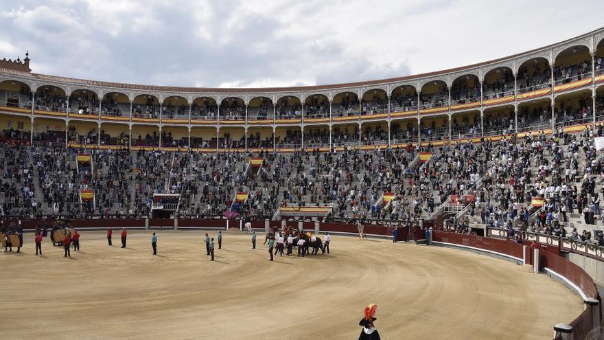 Archivo - La plaza de toros de las Ventas durante la corrida benéfica, a 2 de mayo de 2021, en Madrid, España.