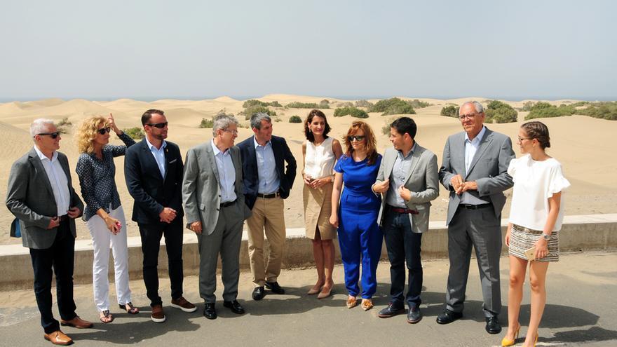 Visita del presidente del Gobierno de Canarias, Fernando Clavijo, a San Bartolomé de Tirajana