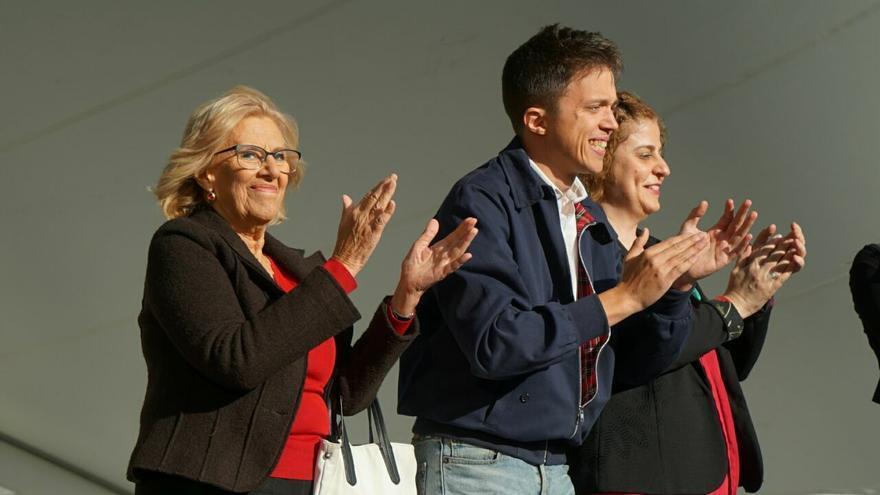 Los candidatos de Más Madrid, Manuela Carmena e Íñigo Errejón
