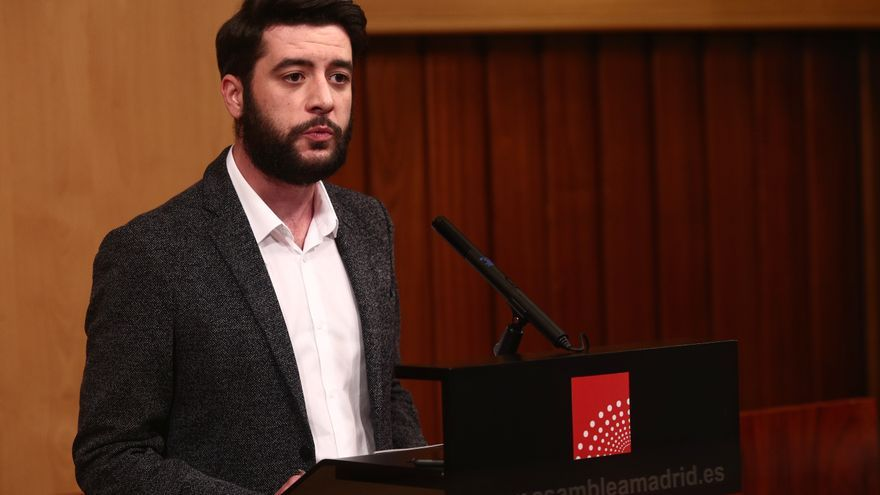El portavoz del Grupo Parlamentario de Ciudadanosen la Asamblea de Madrid, César Zafra