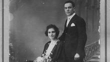 Eugenio García con su mujer, Vicenta