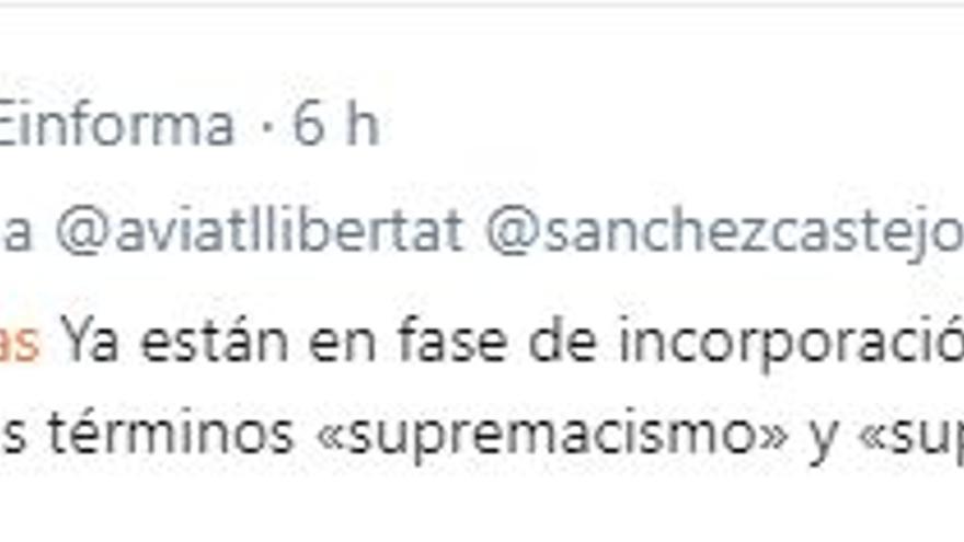 """""""Supremacismo"""" en la RAE"""
