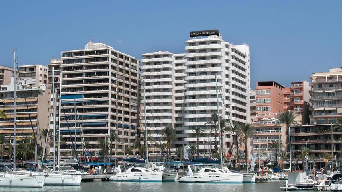 El Hotel Palma Bellver, donde están alojados los estudiantes cordobeses confinados en Mallorca.
