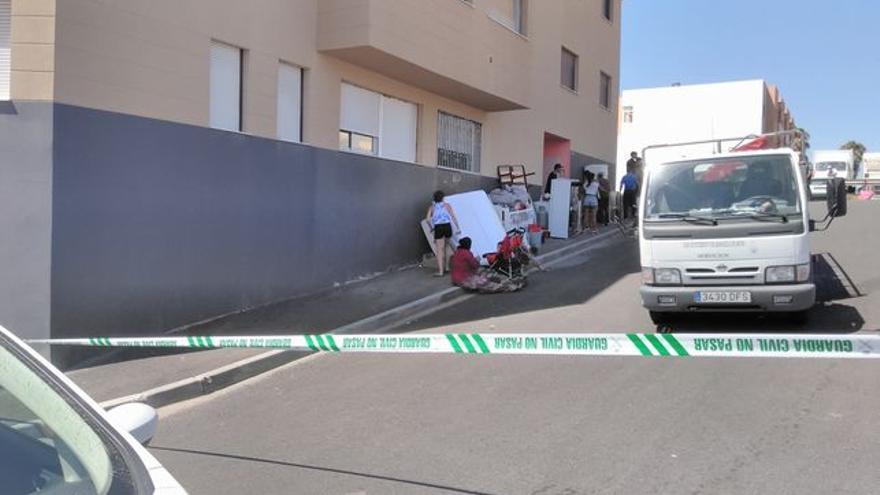 Desalojo reciente, por orden judicial, en un edificio ocupado de La Jurada, en San Isidro