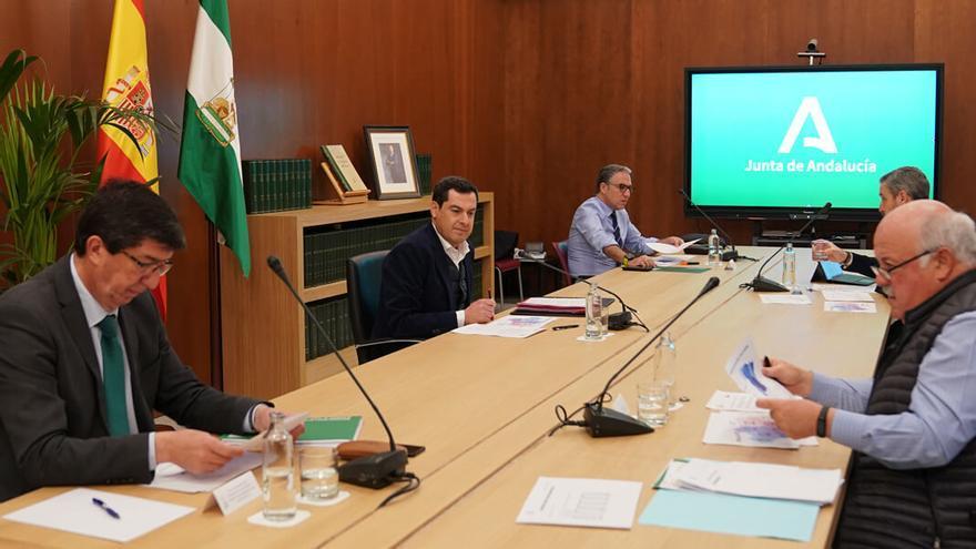 Reunión del gabinete de crisis de la Junta.