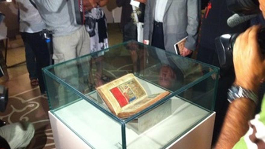 Original del Códice Calixtino expuesto en la Catedral de Santiago
