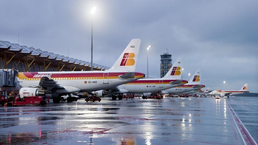 Iberia lastran el tráfico de Madrid Barajas. EUROPA PRESS