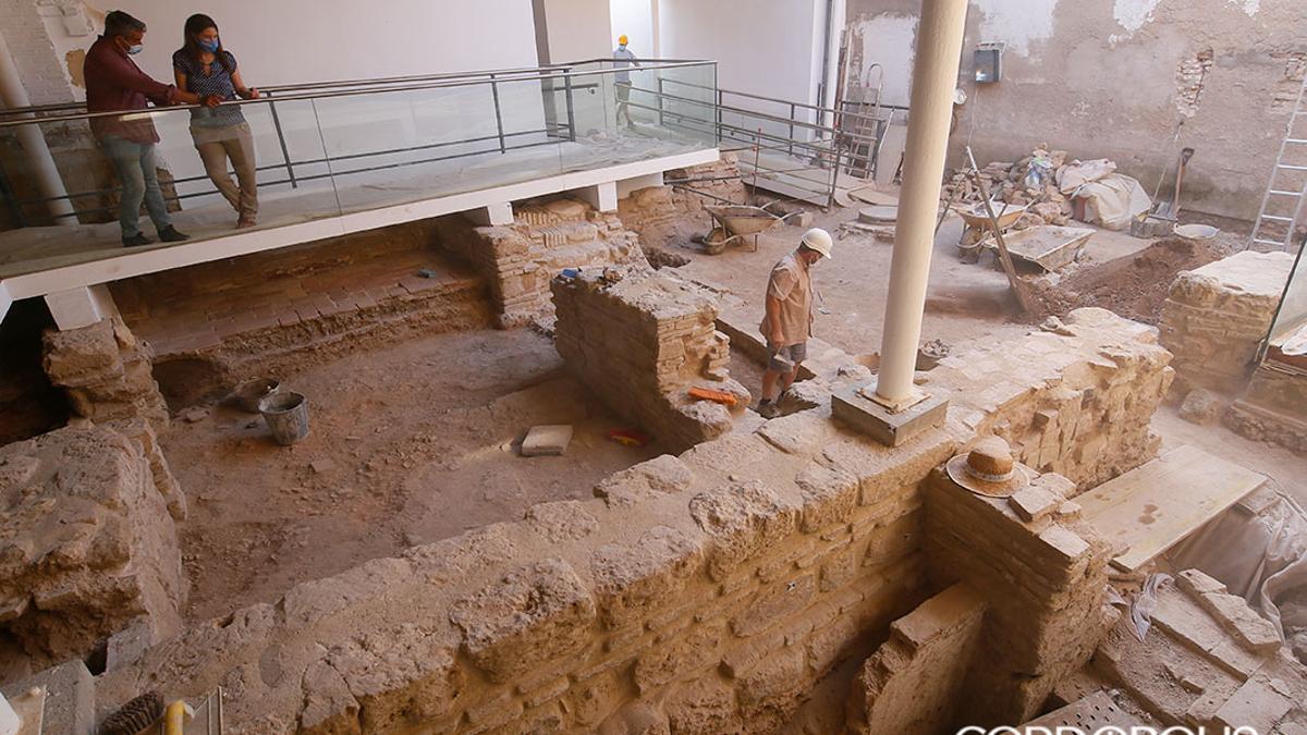 Excavaciones en el solar anexo a la Sinagoga