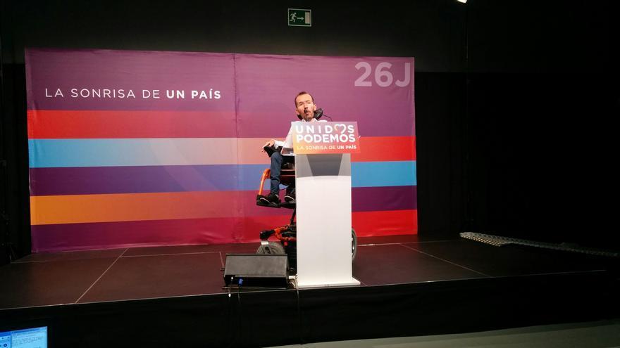 Pablo Echenique, tras el Consejo de Coordinación de Podemos.