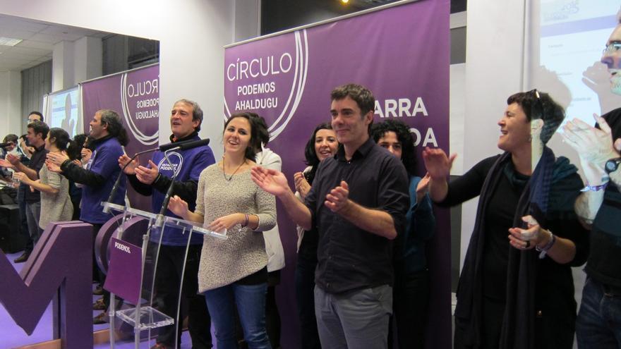 """Podemos Navarra ve """"histórico"""" su resultado y se """"dejará la piel al servicio de la gente"""""""