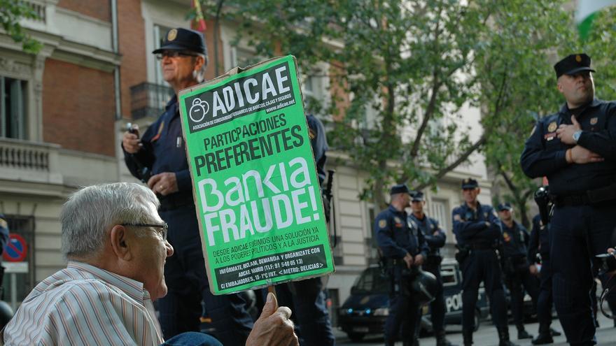 Manifestación de afectados por las preferentes en Madrid.