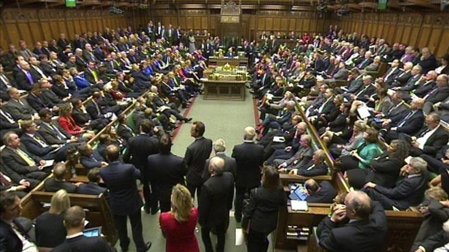 Vista general de la Cámara de los Comunes durante un debate en el Parlamento. / EFE