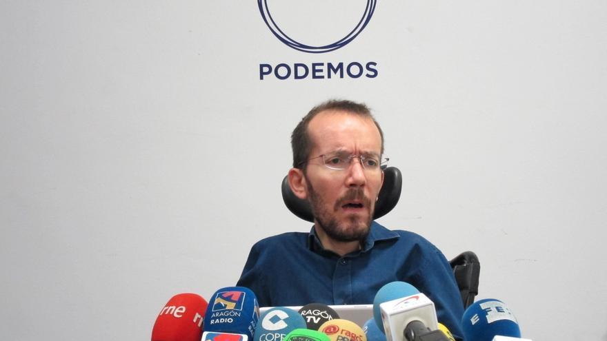 Echenique concreta que Podemos ha ofrecido a IU 5 puestos con escaño seguro y 4 con altas probabilidades