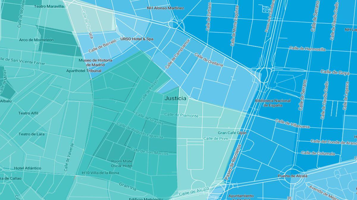 Mapa electoral de Chueca en las elecciones municipales del 26 de mayo | MAPBOX