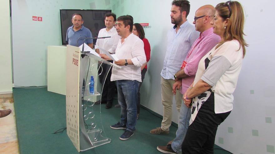 Responsables del PSOE de Jaén, durante la valoración