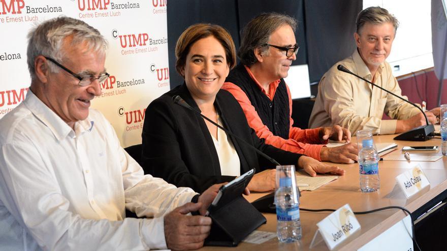 Ribó, Colau y Santisteve en el acto del CCCB sobre políticas urbanas / SANDRA LÁZARO