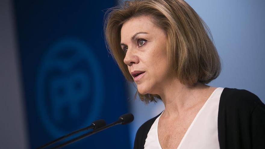 """Cospedal no ha pedido a Barberá que deje su escaño y niega """"intencionalidad"""" al mantenerla en la Permanente del Senado"""