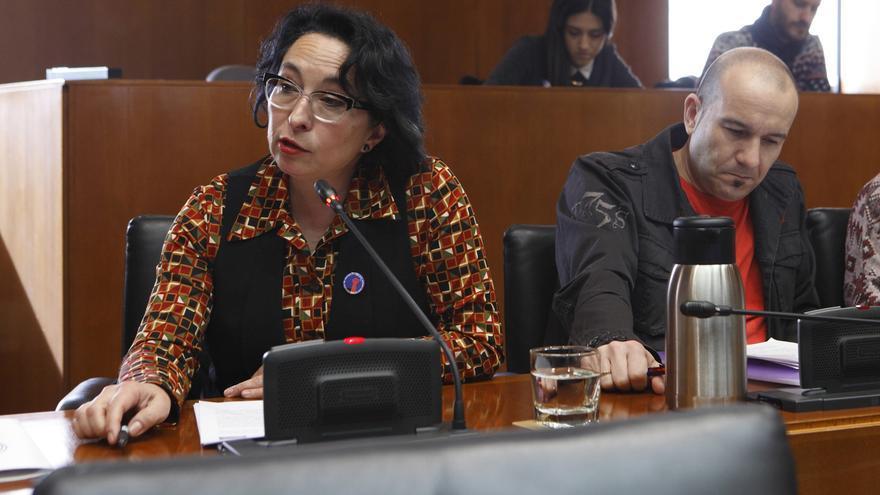 La diputada de Podemos, Amparo Bella.