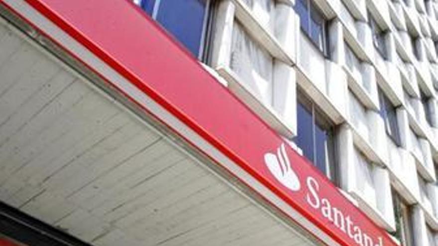 Fachada del banco Santander