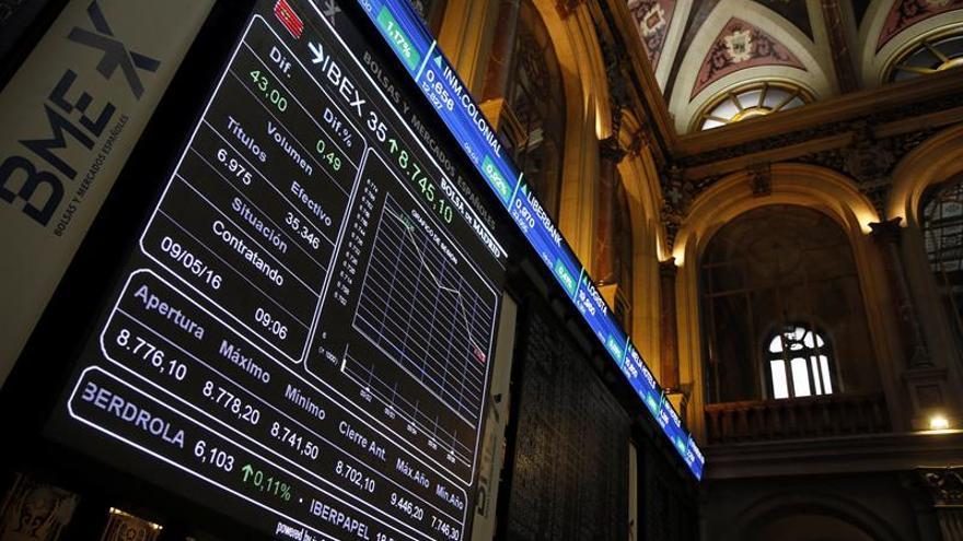 La Bolsa española mantiene ganancias del 1,06 % gracias a los grandes valores