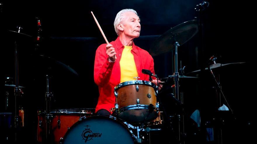 El batería de los Rolling Stones, Charlie Watts.