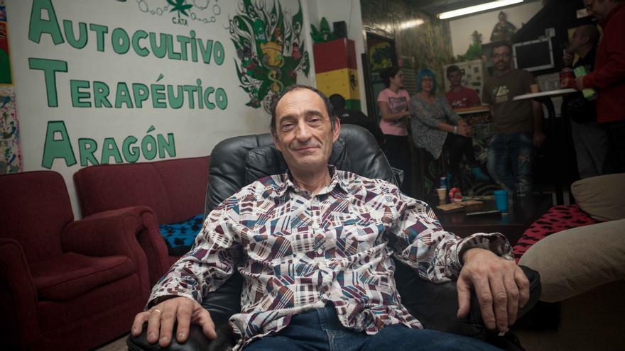 Domingo Anguis, presidente de la Federación de Asociaciones Cannábicas de Aragón.
