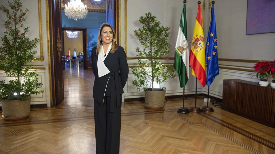 Susana Díaz durante su último mensaje de Fin de Año como presidenta