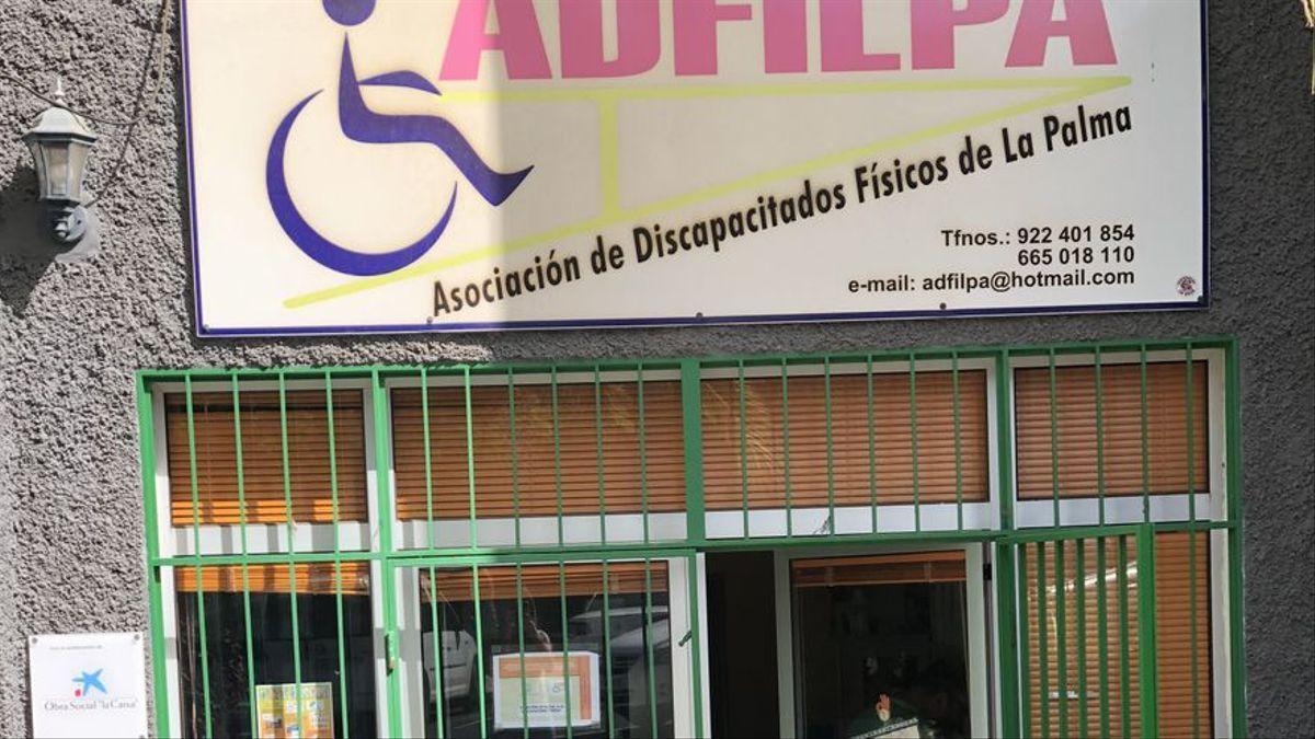 Imagen de archivo de la sede de Adfilpa en Los Llanos de Aridane.