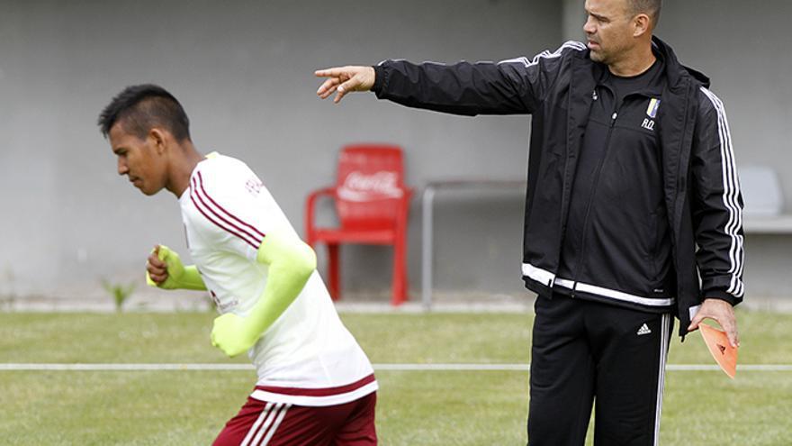 La selección venezolana, preparando el partido frente a Galicia