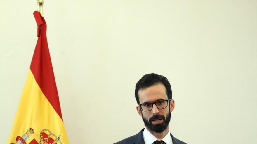 Fotografía de archivo, fechada el 20 de febrero del 2020, del Consejero Económico y Comercial, Álvaro Pastor Escribano, durante una rueda de prensa en la Ciudad de México (México).