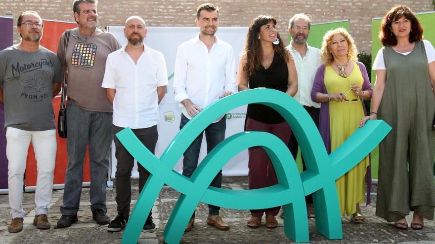 Los miembros de los cinco partidos iniciales que integran Adelante Andalucía.