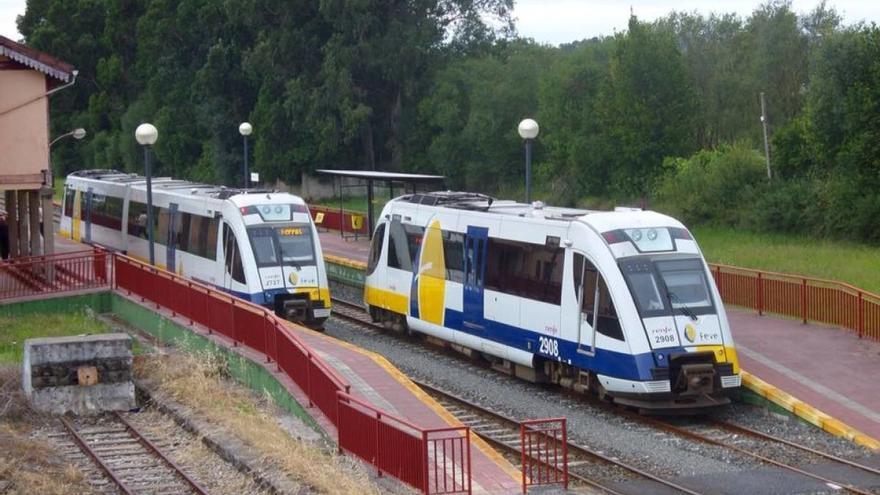 Trenes de la línea de Feve Ferrol-Ribadeo